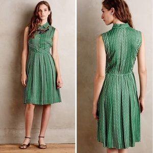 Anthropologie 11•1•Tylho Green Polkadot Dress
